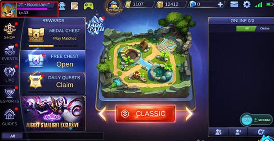 Open Game Mobile Legends