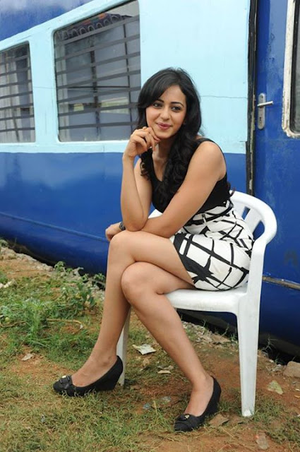 Rakul Preet Singh waiting on chair