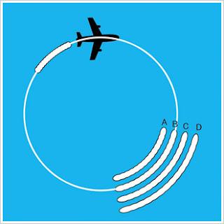 Teste visual: Voando em círculos, qual fumaça corresponde ao...