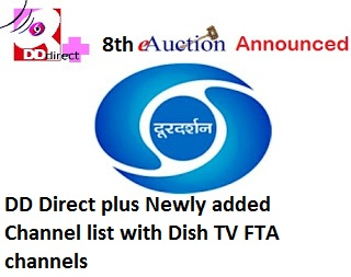 DD Direct Plus Updated Channel List with Dish TV Free to Air