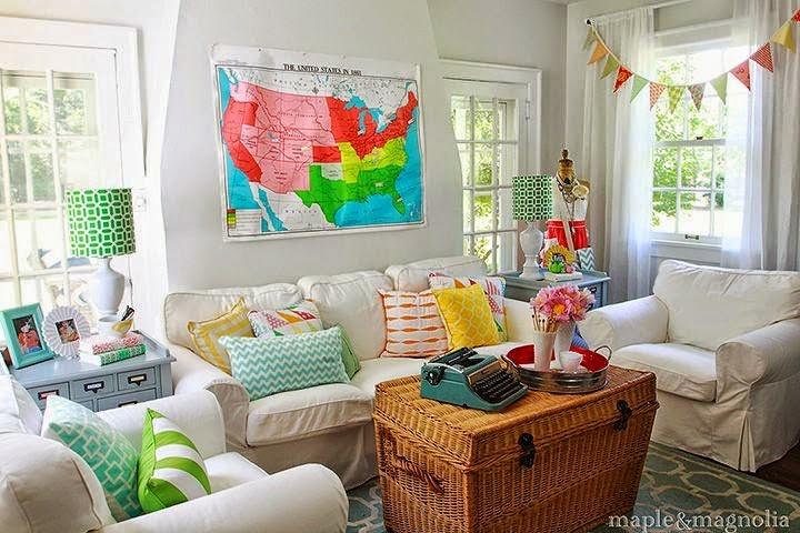 diseño sala de colores