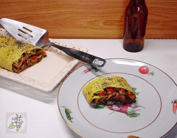 Strudel de Vegetales. Receta Vegana