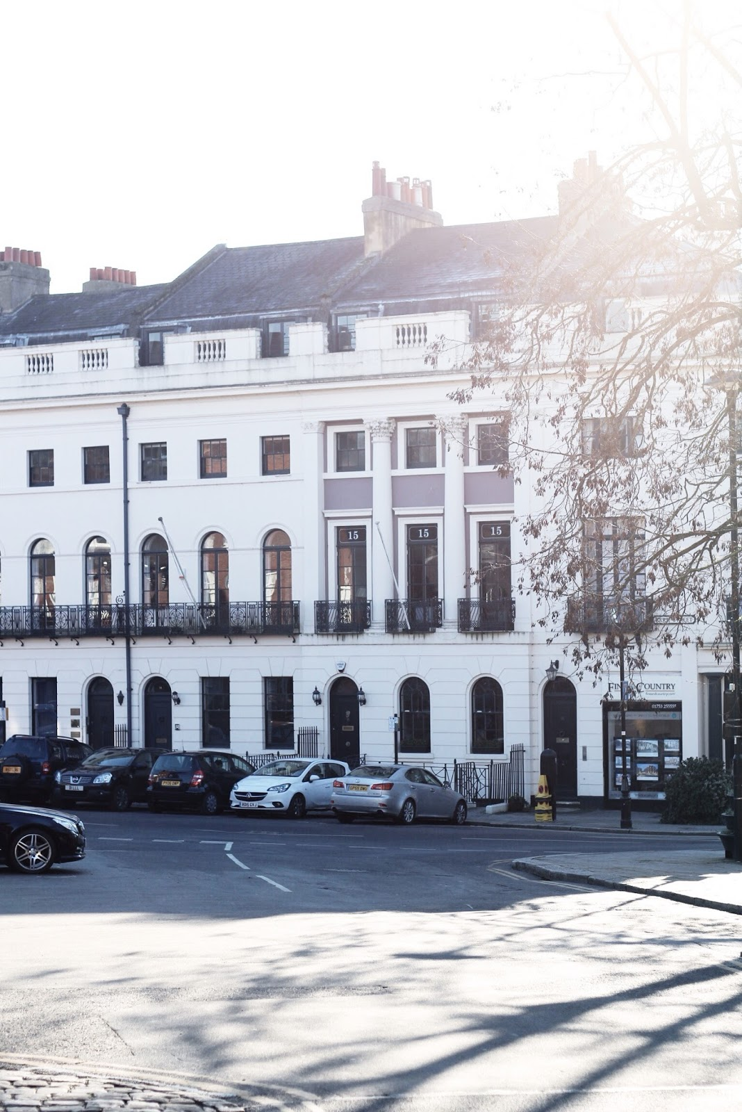 Luxurious white houses in Windsor