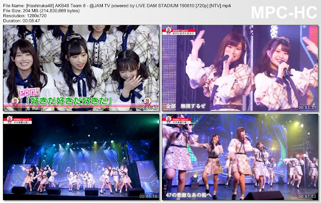 AKB48 Team 8 - @JAM TV powered by LIVE DAM STADIUM 190810 (NTV