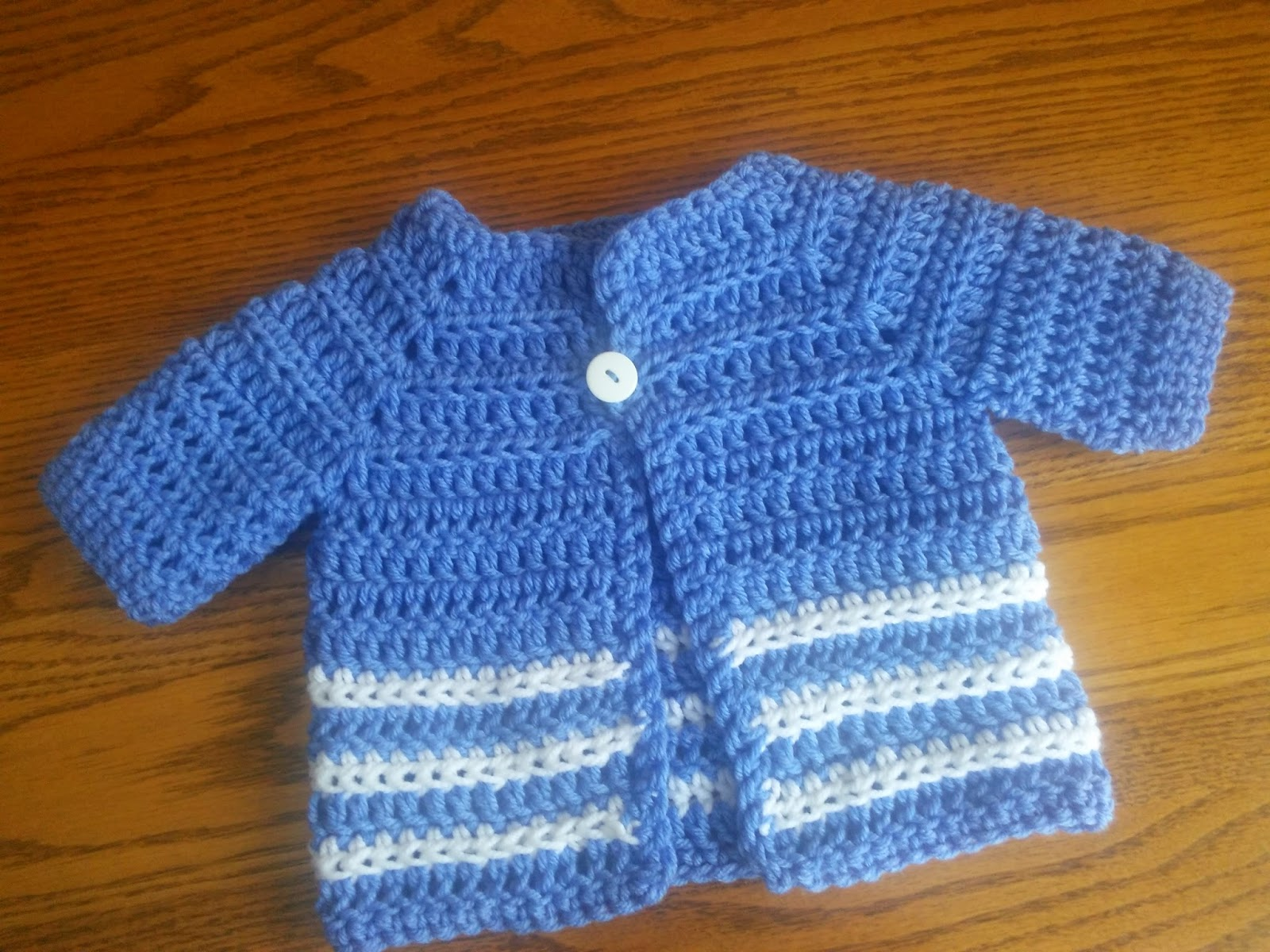 Crochet Baby Boy Hooded Sweater Pattern : Craft Brag: Baby Boy Crochet Sweater - Pattern