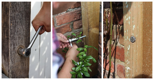 How to use concrete bolts outdoors in fence posts