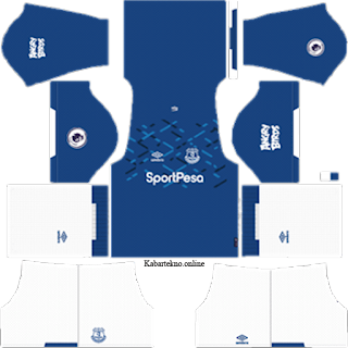 Kit DLS Everton 2019/2020 - Kit Dream League Soccer 2019