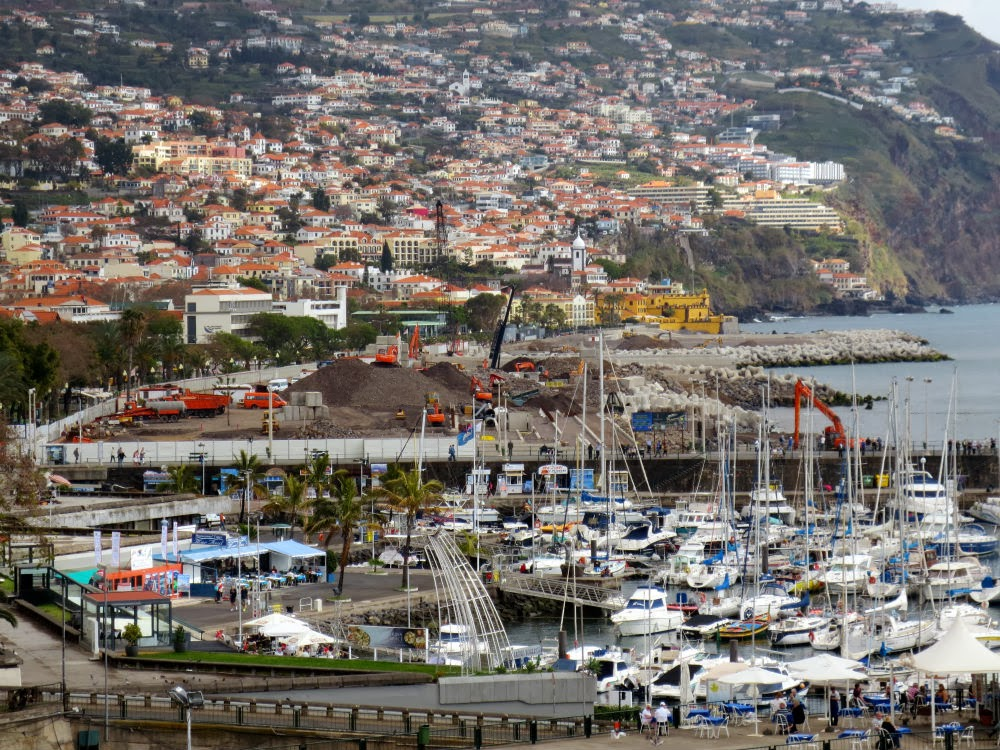 the works in Funchal bay