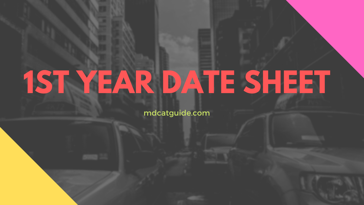1st year date sheet 2020