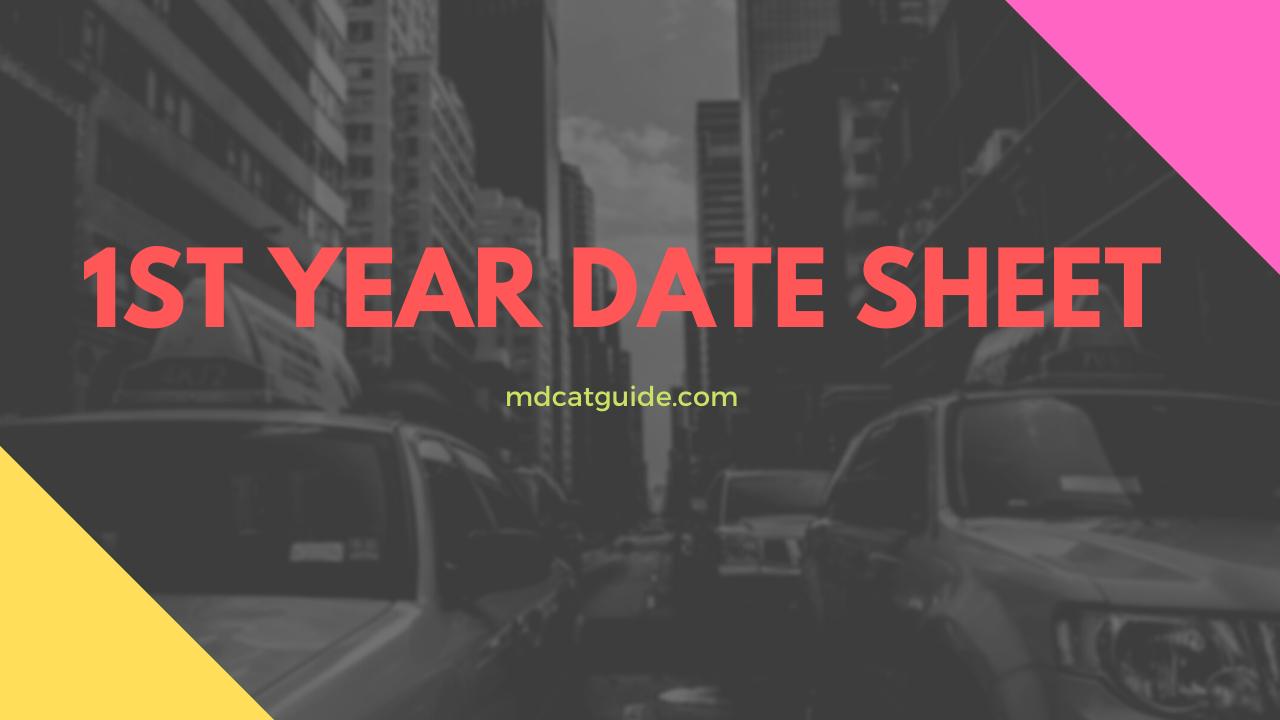 1st year date sheet 2021