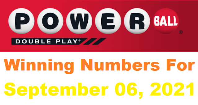 PowerBall Double Play Winning Numbers for September 06, 2021