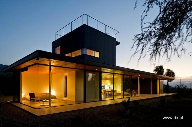 Casa de campo en Chile diseño y estilo Contemporáneo