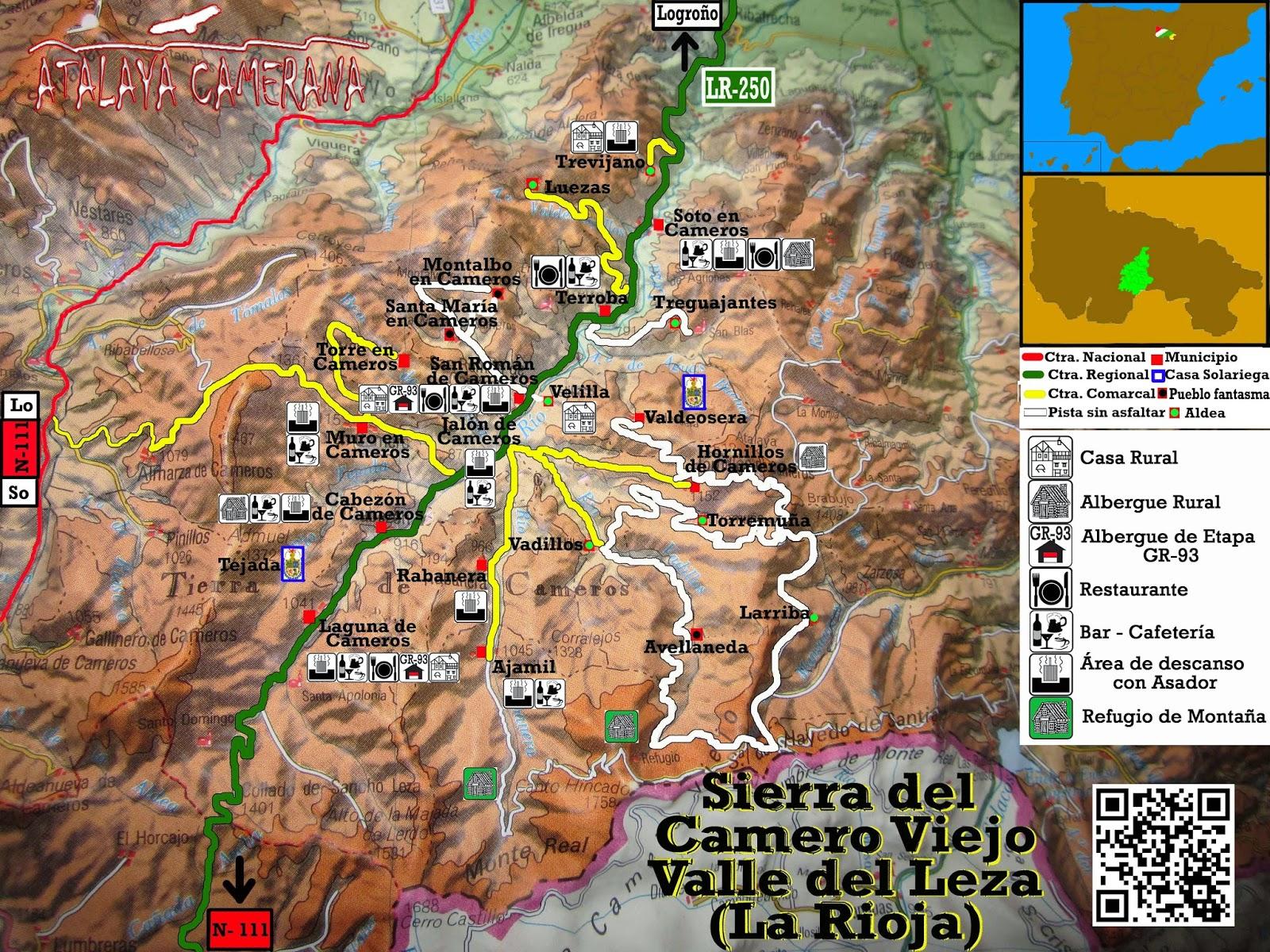 Sierra del Camero Viejo: Casas Rurales, Albergues, Restaurantes y Bares