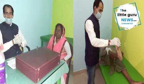 नि:शुल्क चिकित्सा शिविर में डॉ० गोपाल के द्वारा दर्द संबंधित मरीजों का हुआ मुफ्त ईलाज