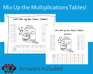 Free Maths Puzzle  Game Times Table  NinaLaZina