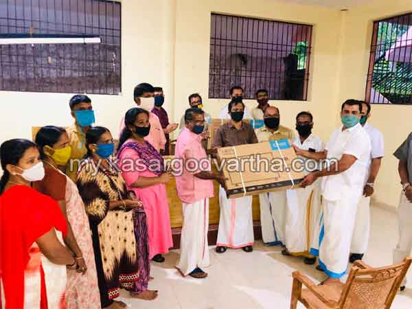 Kerala, News,  Uduma West comrades provided TV sets for online study