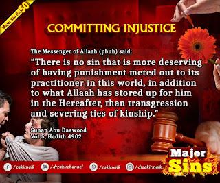 MAJOR SIN. 50. COMMITTING INJUSTICE