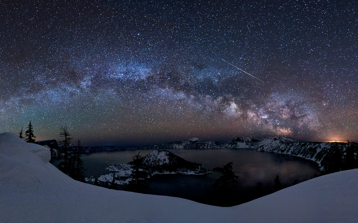 Milky Way Galaxy - Crater Lake