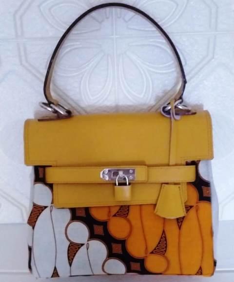 Tas Handbag Batik Premium Dengan Tali Kulit