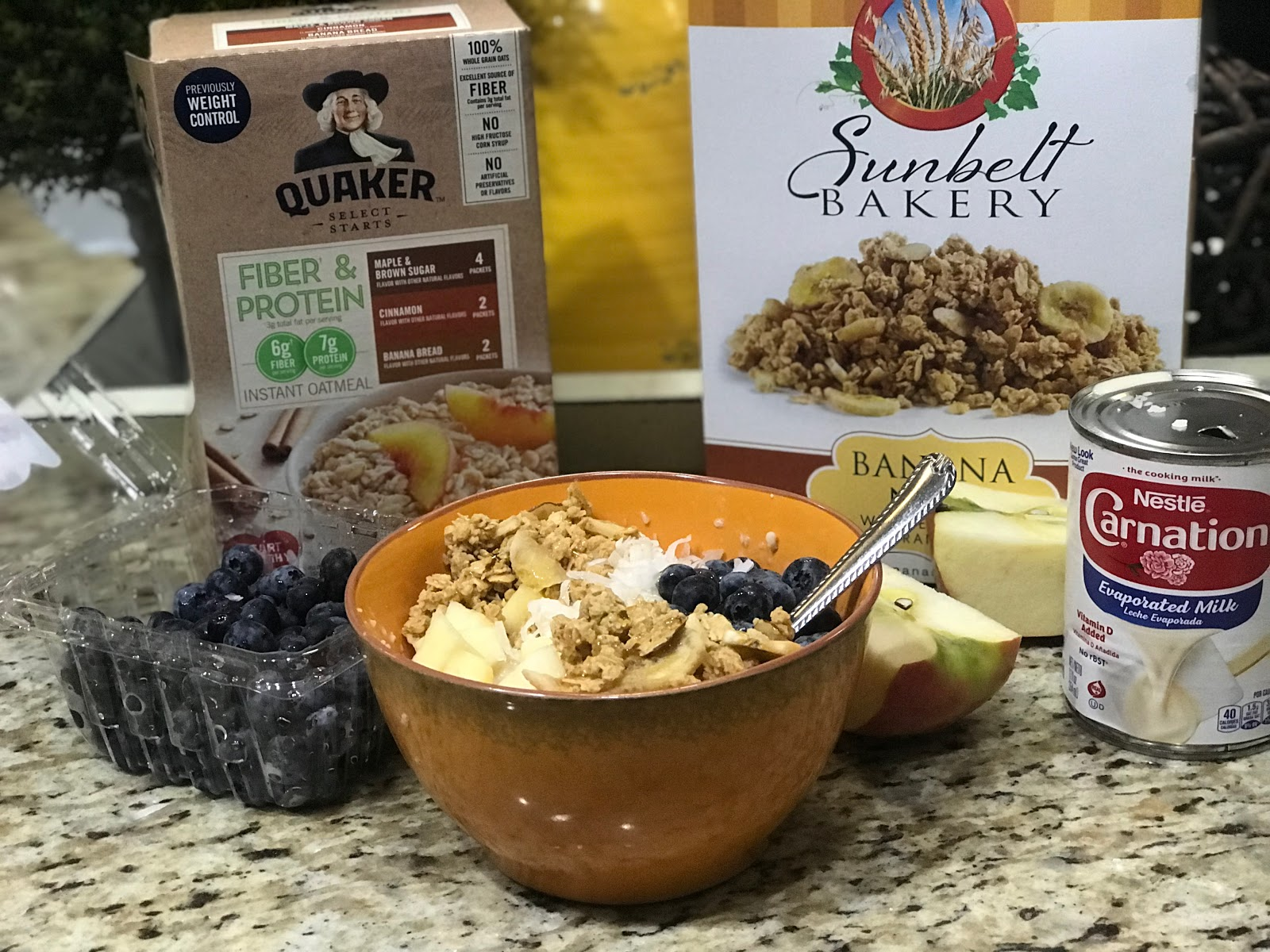 Image: Oatmeal, cereal, yogurt, milk and fruit. Fri Fri Friday: I Made It!Joyful List