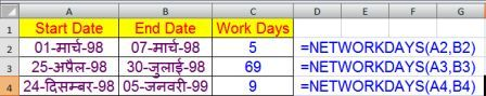 Excel Date and Time Functions with Example