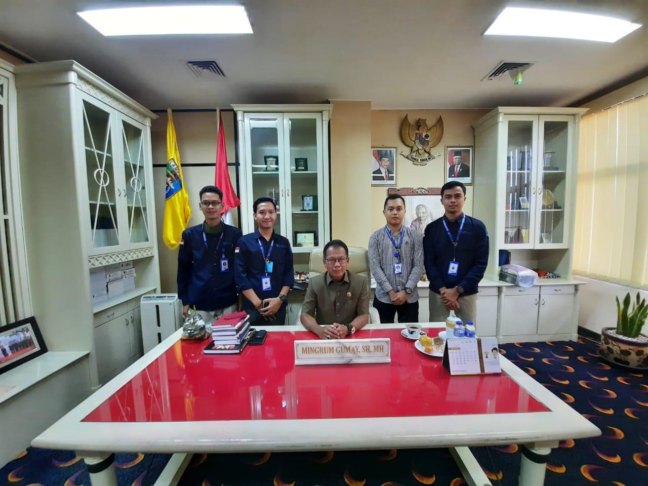 Ketua DPRD Provinsi Lampung Mingrum Gumay SH., MH menerima audiensi team media LIDIK