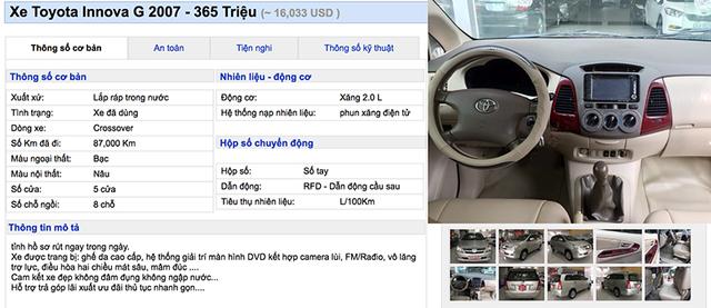 Bạn có thể nào tin xe Toyota Innova có giá 350 triệu ảnh 3