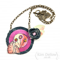 Kim Dellow Fabric Pendant necklace tutorial