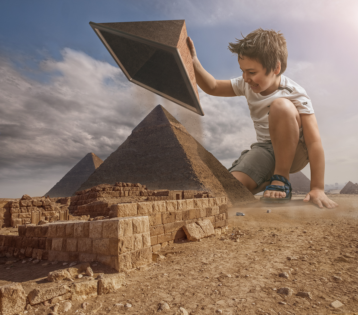 03-Pyramids-Adrian-Sommeling-Surreal-Photo-Manipulation-with-a-Son-s-Help-www-designstack-co