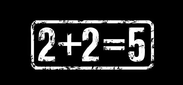 2 plus 2 equals the bang out 9