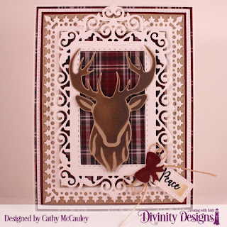 Stamps: Deer Ornament Stamp/Die Duo Paper Rustic Christmas Dies: Deer Silhouette, Pierced Rectangles, Double Stitched Rectangles, Filigree Frames,Lavish Layers, Treat Tags