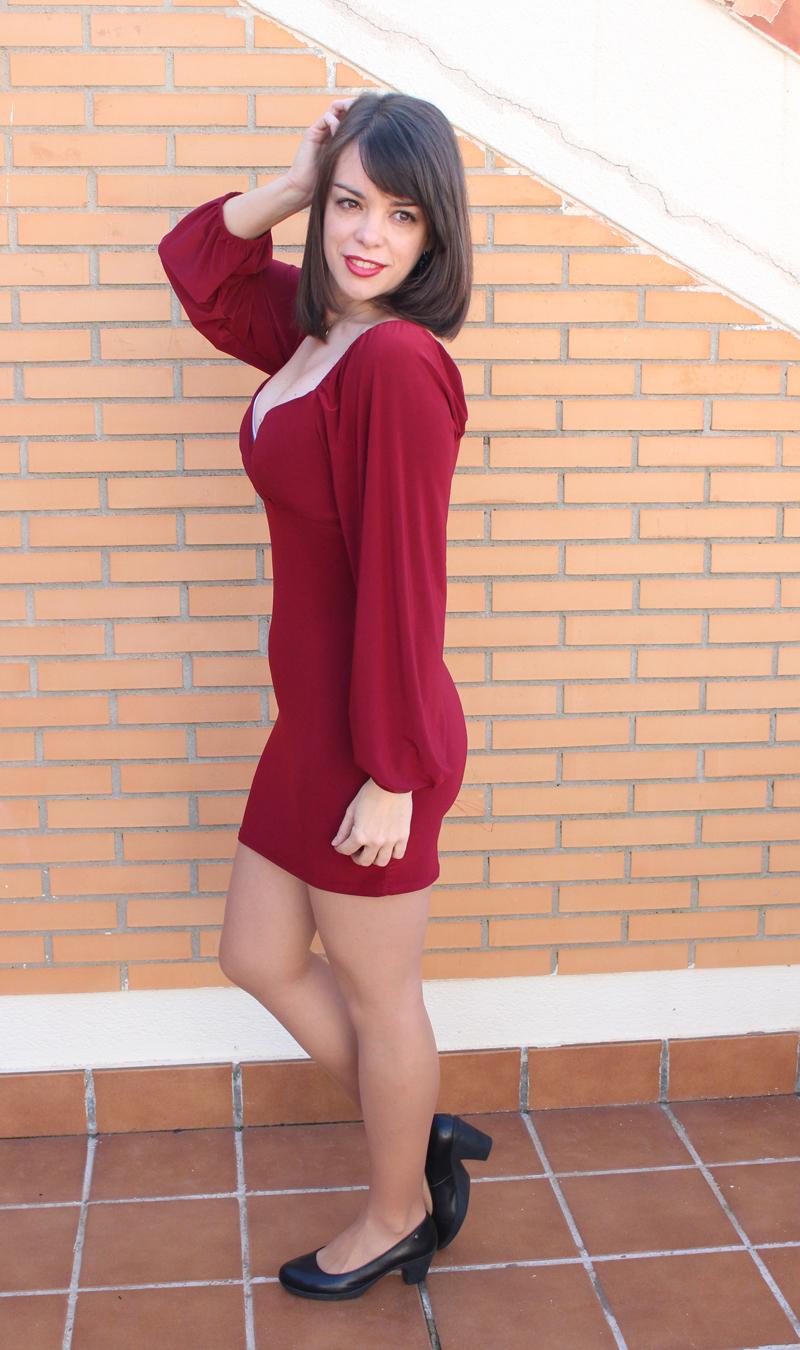 Granate vestido