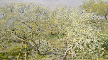 Primavera (Árboles Frutales en Flor) de Monet