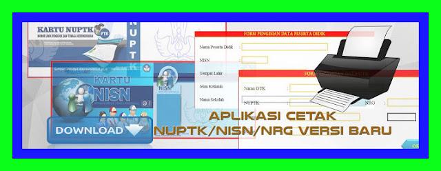 Inilah Design Eksklusif Aplikasi NISN Dan NUPTK Terbaru Sesuiai Permendikbud