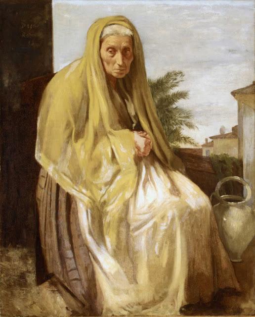 Эдгар Дега - Старая итальянка (1857)