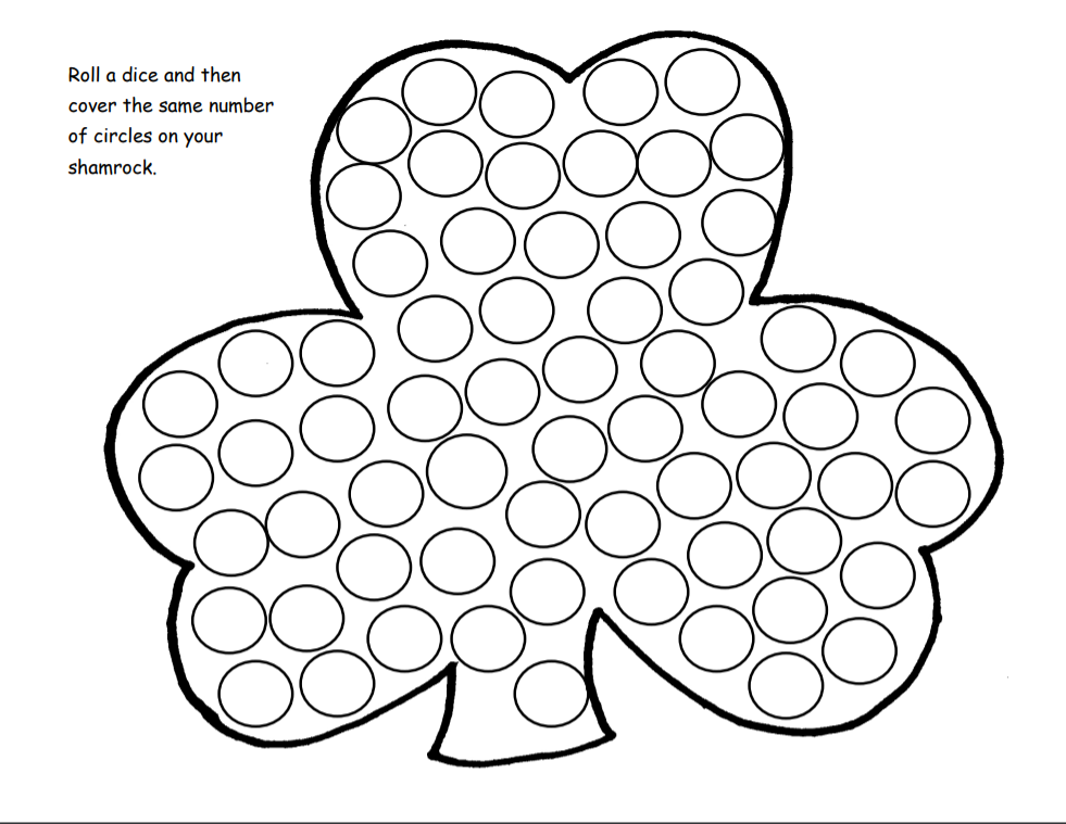 Printable St. Patrick's day worksheets and activities