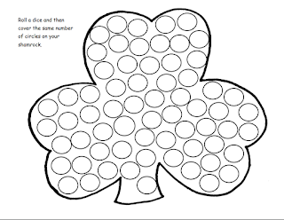 St. Patrick's day roll and cover shamrock math activity