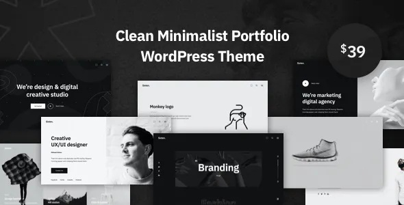 Sixten Minimalist Portfolio WordPress Theme