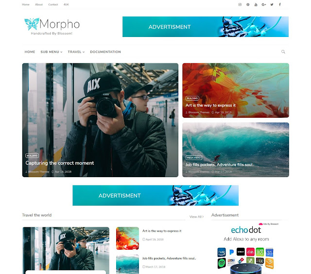 Download Morpho Blogger Theme Template