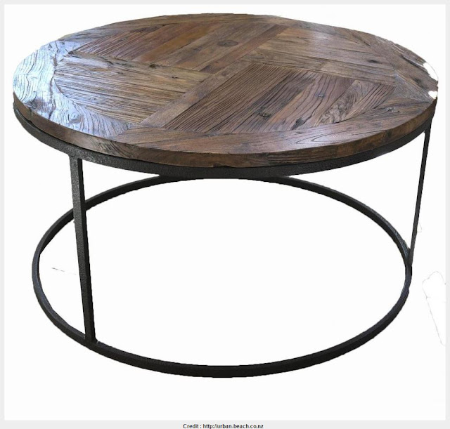 Best Round Industrial Coffee Table Wallpaper