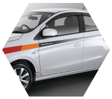 cutting sticker mitsubishi mirage 2015