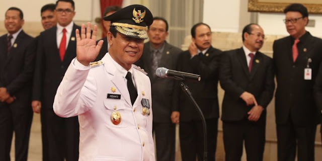 Seremoni Pelantikan Gubernur Kepri Isdianto yang Berujung Petaka