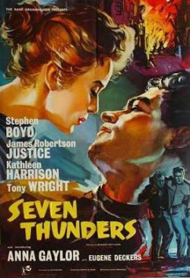 Poster, Seven Thunders (1957)