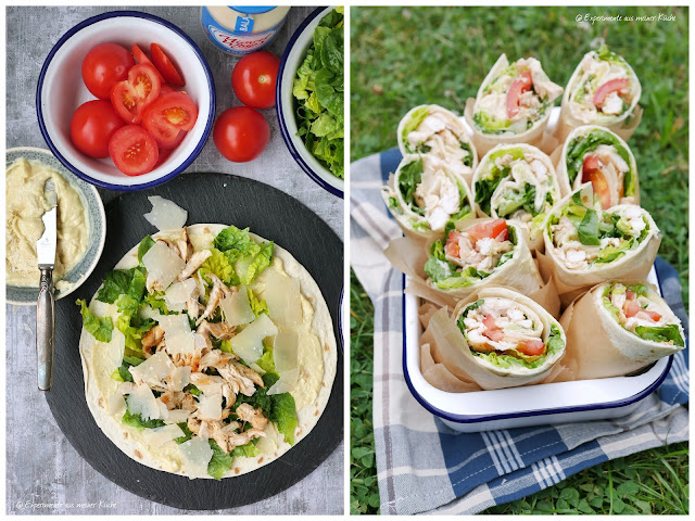 Caesar Wraps | Rezept | Kochen | Picknick | Fingerfood | Weight Watchers