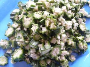 chopped okro
