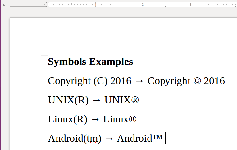 Shortcuts For Inserting Copyright Trademark And Registered Symbols
