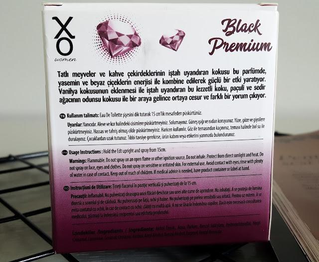 XO Black Premium Parfüm Ve Deodorant