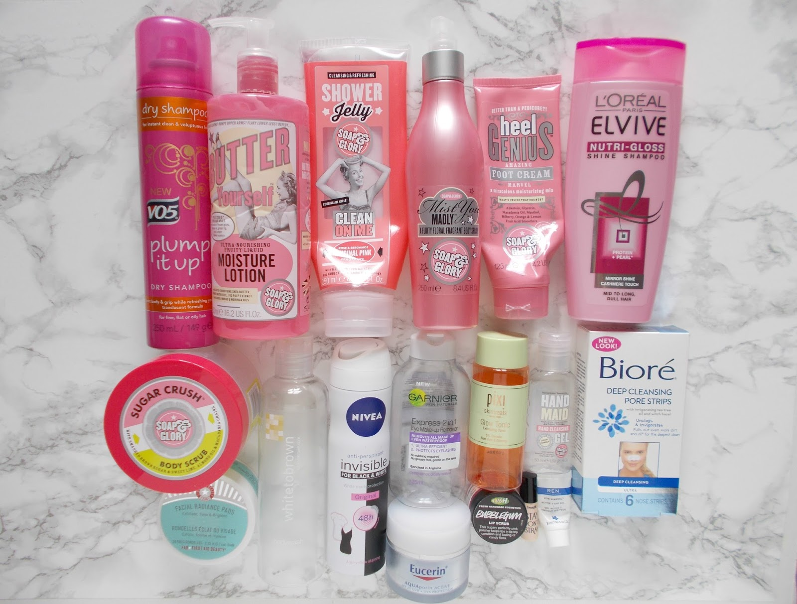 product empties danielles beauty blog skincare haircare bodycare makeup soap and glory