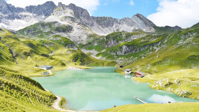 Zürsersee en Vorarlberg, Austria