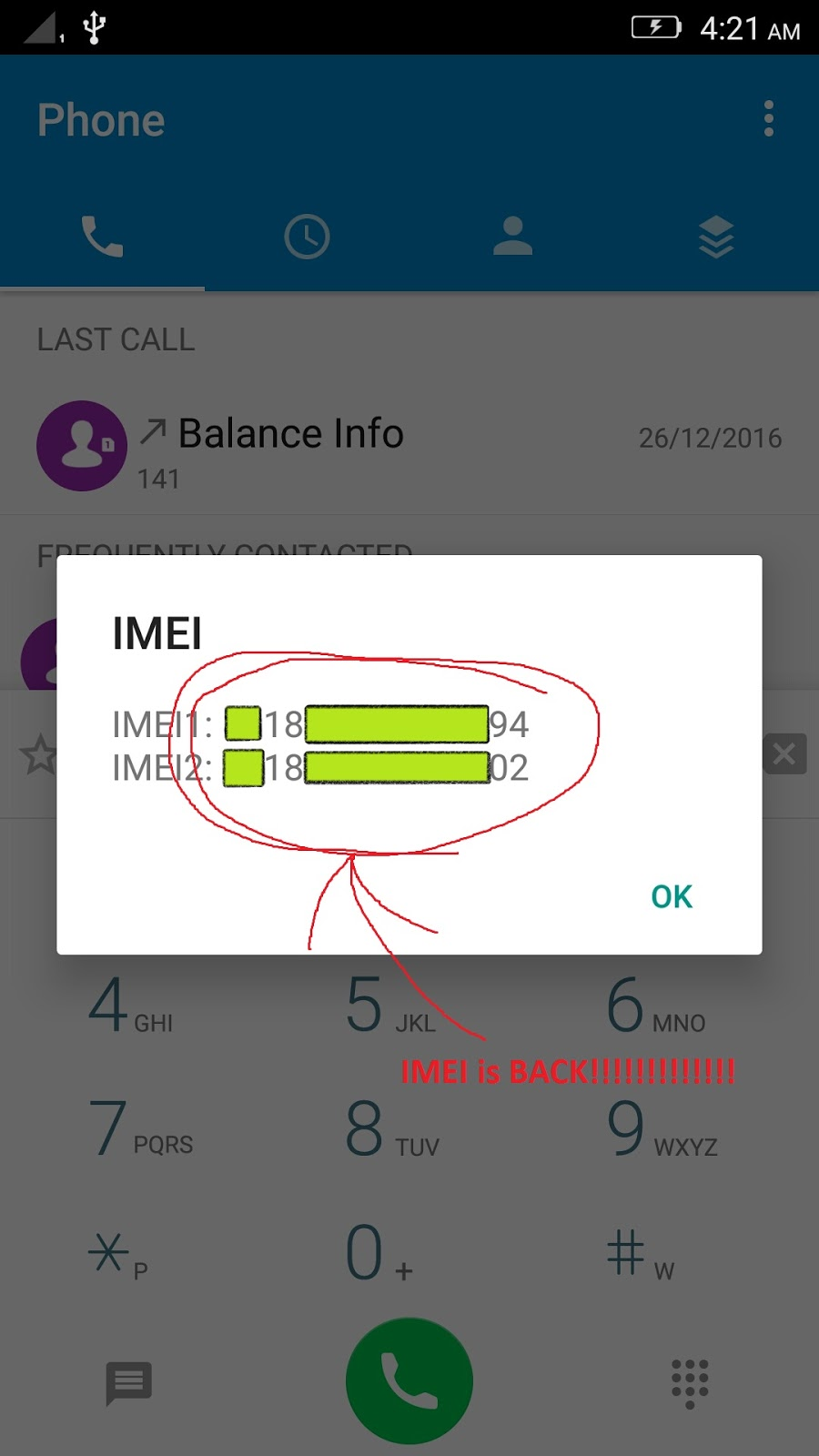 IMEI fix for MT6755/53 Lenovo k5 note